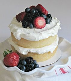 White Almond Cake with Buttercream Frosting.