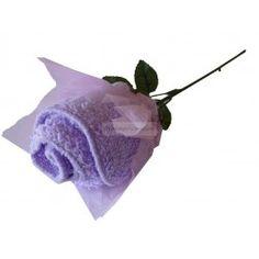 Toalla en forma de flor detalles invitados