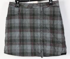 NWT Horny Toad Multi Colored Polyester Quilted Tartan Mini Skirt 6 #HornyToad #Unavailable