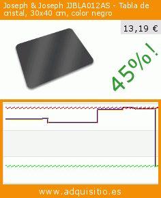 Joseph & Joseph JJBLA012AS - Tabla de cristal, 30x40 cm, color negro (Cocina). Baja 45%! Precio actual 13,19 €, el precio anterior fue de 24,03 €. https://www.adquisitio.es/joseph-joseph/joseph-joseph-jjbla012as
