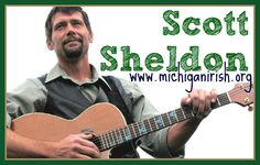 Singer/songwriter Scott Sheldon hails from Muskegon and has been compared to Gordon Lightfoot, among others, mixing Irish, Scottish and French songs with his own compositions.