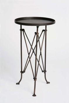 Metal Accordion Side Table