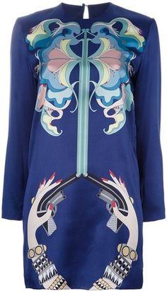 holly fulton England Printed Silk Tunic Dress - Lyst