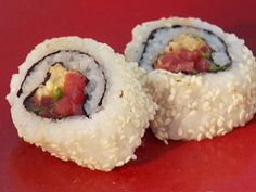 "Spicy Tuna Roll ""Sushi"" Source: http://www.recipekitchen.net/recipe/spicy-tuna-roll-sushi"