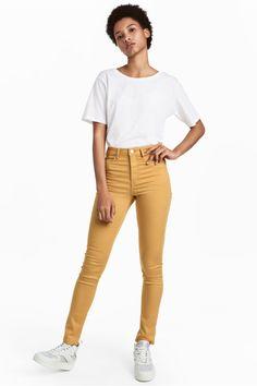 a2fe72f86c445 Skinny High Waist Jeggings - horčicovožltá - | H&M SK 1 H&m Fashion, Star  Fashion