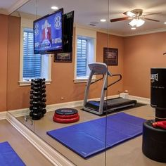 Home Gym Ideas Minimal Equipment. Mirrored Wall Home Gym Ideas