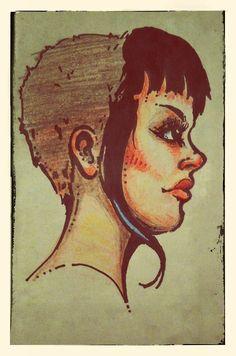 skinhead girl/// Ugh imagine this but in black traditional get outttttttt Skinhead Girl, Skinhead Fashion, Ska Punk, Punk Goth, Beautiful Mind, The Most Beautiful Girl, One Step Beyond, Art Template, Tattoo Fonts