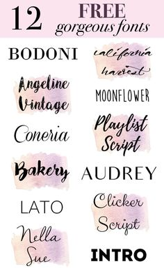 12 beautiful FREE fonts that every creative needs… - MKS Web Design Hand Lettering Fonts, Handwriting Fonts, Monogram Fonts, Typography Fonts, Free Monogram, Lettering Styles, Lettering Tutorial, Monogram Letters, Calligraphy Fonts Free