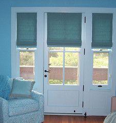 flat roman shades  window treatments