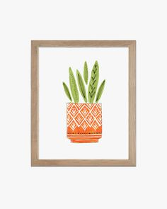 House Plant  Print  Home Decor by handmadecece on Etsy