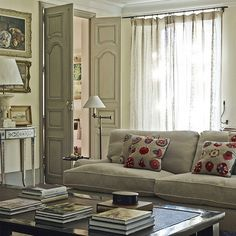 Living room with mix of contemporary and antique furniture | Explore this traditional Provencal home in the the countryside | housetohome.co.uk#results