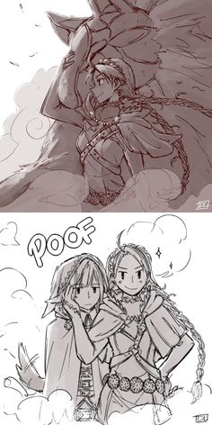I've been thinking that Nina and Velouria have a nice matching folktale aesthetic going on, in that one's basically Robin (Robbin', hehe get it?) Hood and the other is Red Riding Hood and The Wolf at the same time.