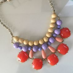 Chunky Beaded Statement Necklace So cute and stylish. Absolutely love these but clearing out my closet! Jewelry Necklaces