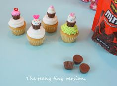 Reese's miniatures for cupcake cupcake toppers.