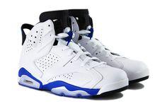 384664-107 Air Jordan 6 Sport Blue White/Sport Blue-Black