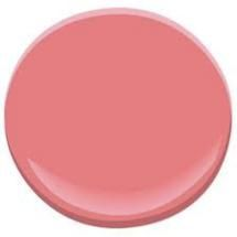 The Top 10 Paint Colors for Mid-Century Modern Style: Pink Flamingo CSP-1175 - Benjamin Moore. Cat room/den color?