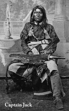 Kintpuash (Strikes the water brashly), better known as Captain Jack (circa 1837 - October 3, 1873), was a chief of the Native American Modoc tribe of California and Oregon, and was their leader during the Modoc War.