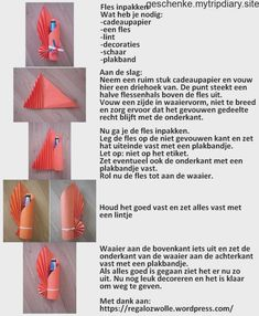 Fles inpakken Step by step tutorial How to wrap the bottle into the paper - Geschenke Ideen Creative Gift Wrapping, Creative Gifts, Wrapping Gifts, Wrapping Ideas, Gift Wrapping Techniques, Wrapped Wine Bottles, Gift Wraping, Wine Gifts, Bottle Crafts