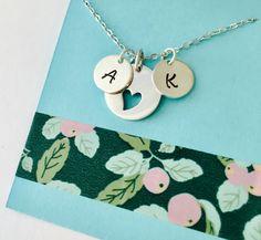 Personalized Mom Necklace, Grandma Necklace, Mom Initial Necklace, Personalized Mom Necklace, Sterling Silver Mom Necklace, Personalized In
