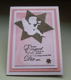 Glückwunschkarten - Glückwunschkarte zur Taufe - ein Designerstück von Wollzottel bei DaWanda