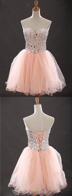 Sweetheart Beading Short Prom Dresses,Cocktail Dress,Charming Homecoming Dresses,Homecoming Dresses: