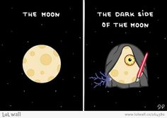 This is the dark side of the moon!
