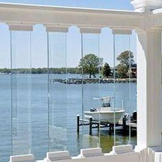 Back Patio (if we use a railing at all...) BuildDirect®: Longevity Vinyl Deck Railing Glass