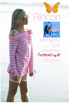 By Nancy at 'capable of flying': Rincon Springtime Shirt (English & Deutsch). This give instructions for adapting the neckline, sleeves and cuffs of any well-fitting t-shirt pattern. Outfits For Teens, Girl Outfits, Cute Outfits, Tween Fashion, Fashion Sewing, Fashion Ideas, T Shirt Remake, Diy Clothes, Clothes For Women