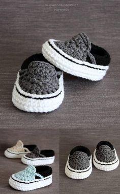 Crochet baby Vans pattern. Super cute!!