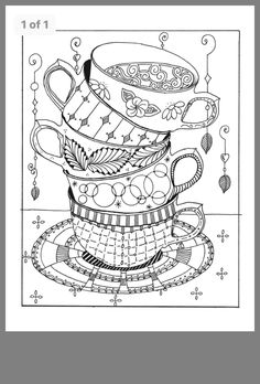 cups stacked coloring page … Make your world more colorful with free printable coloring pages from italks. Our free coloring pages for adults and kids. Adult Coloring Book Pages, Printable Adult Coloring Pages, Free Coloring Pages, Coloring Sheets, Coloring Books, Wal Art, Digi Stamps, Copics, Colorful Pictures