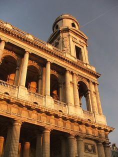 G. N. Servandoni and J.F.T. Chalgrin. Facade, St. Sulpice. Paris 1732-77 #architecture #paris
