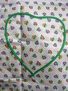 Vintage Cotton Handmade Full Bib Apron with Heart by anne8865, $24.60