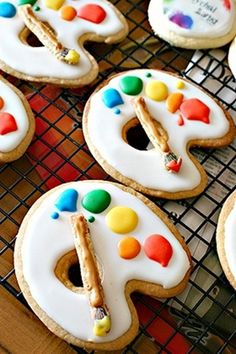 Paint Party Cookies
