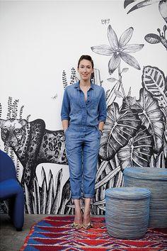 Papier peint Bien Fait - Portrait de Cécile Figuette