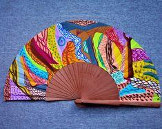 "Abanico pintado a mano de la serie ""Paisajes imaginarios"". Un abanico, una obra de arte. #abanicospintadosamano #abanicosmodernos #abanicosespañoles #abanicosartesanales #regalosdeempresa"