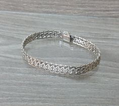 835er Silberarmband L20cm Armband 70iger SA181 von Schmuckbaron