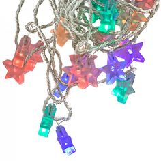 Litecraft MultiColoured Novelty Star Lights