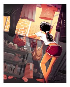 girl standing at apartment window, singapore, Charlene Chua illustration #illustration #kidlitart #singapore #illustrator
