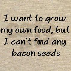grow bacon Tote Bag on CafePress.com