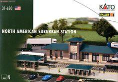[閉じる] (N) North American Suburban Station (アメリカの駅) ~北米の郊外の駅~ (塗装済みキット) (鉄道模型) パッケージ1