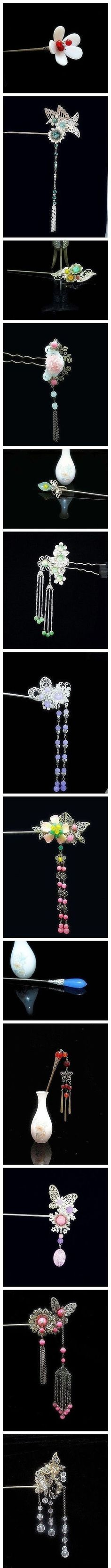 Gorgeous Chinese hair pin- would love these if my hair was long enough to pin up.