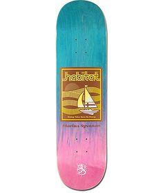 """One of the most versatile skaters to reach the pro ranks, Habitat introduces the Marius Rising Tides 8.37"""" Skateboard Deck, Marius Syvanen's pro model board. Built from a classic 7-ply construction with an all around full concave for maximum boardfeel. Th"""