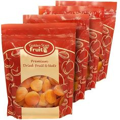 Dried Mediterranean Apricots 4 Lbs (in 4 - 16 oz. Reclosable Bags) Golden State Fruit