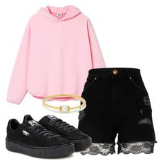 """""""Untitled #237"""" by ninaellie on Polyvore featuring River Island, Puma and Anissa Kermiche"""