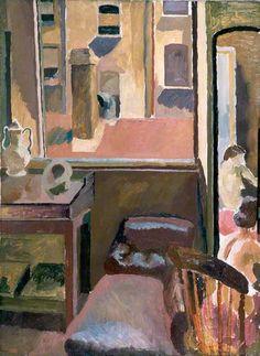 Duncan Grant (UK, - The Back Window of Gordon Square - 1918 - oil on canvas - Aberdeen Art Gallery & Museums, UK Dora Carrington, Duncan Grant, Vanessa Bell, Aberdeen Art Gallery, Art Grants, Bloomsbury Group, Virginia Woolf, Post Impressionism, Art Uk