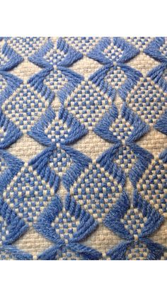 Vintage Scandinavian Huck Weave Pillow