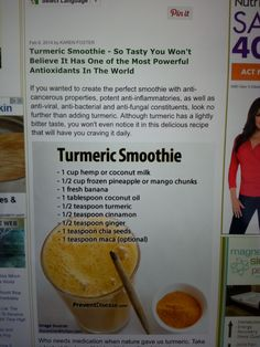Turmeric Smoothie, Most Powerful, Pomegranate, The Fosters, Acting, Believe, Language, Tasty, Wellness