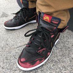 various colors 3104d db758 Nike SB x NBA Dunk High Pro Black Navy Red 👉🏻 www.popname.