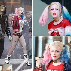 Batman Suicide Squad Harley Quinn Cosplay wig batman halloween wig D19 | cosplaydiy - Accessories on ArtFire