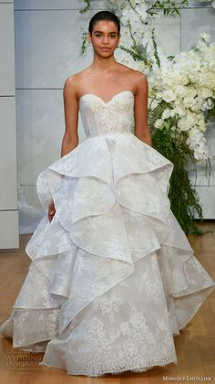 Trendy Wedding Dresses : Best of Bridal Fashion Week: Monique Lhuillier Wedding Dress Collection 2018 Wedding Dresses 2018, Wedding Dresses Photos, Bridal Dresses, Gown Wedding, Most Beautiful Wedding Dresses, Beautiful Gowns, Bridal Show, Bridal Style, Bridal Collection